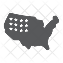 Usa American Map Icon