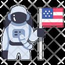 Usa Spaceman Astronaut Icon