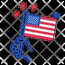 Us Usa America Icon