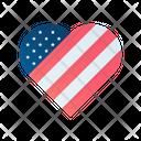 Usa heart Icon