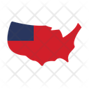 Usa Map Usa Usa Area Icon