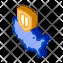 Usa Map War Icon