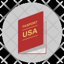 Usa Passport Citizen Icon