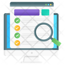 Usability Test Web Test Accessibility Test Icon