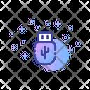 Usb External Data Storage Icon