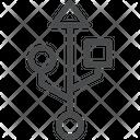 Usb Port Pendrive Usb Pin Icon