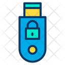 Lock Usb Secure Usb Secure Pendrive Icon