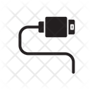 Usb Glyph Cable Icon