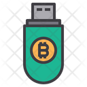 Digital Key Money Bitcoin Cryptocurrency Usb Pendrive Icon