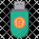 Digital Key Money Bitcoin Cryptocurrency Usb Pendrive Icon