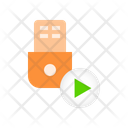 Usb Flashdrive Turn Icon