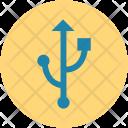 Usb Port Signcord Icon