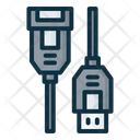 Usb A Female And Male Icon