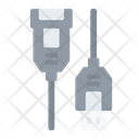Usb A Female And Male Connector Cable Icon