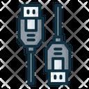 Usb A Male Connector Icon