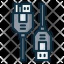 Usb B Connector Icon