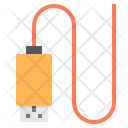 Usb Line Connector Usb Cable Usb Connector Icon
