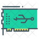 Usb Controller Card Chip Icon