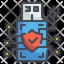 Usb Digital Security Usb Data Icon