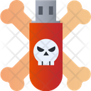 Usb Hack Pendrive Hacked Infected Usb Drive Icon