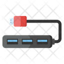 Usb Port Hub Usb Extension Usb Connector Icon