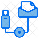 Mail Data Technology Icon