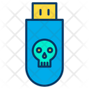 Usb Virus Infected Pendrive Bug In Pendrive Icon