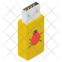 Usb Flash Usb Virus Icon