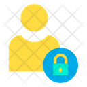 Lock User Secure User Protected User Icon