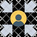 User Arrow Social Icon