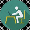 Laptop User Computing Icon