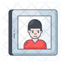 User Online Person Video Chat Icon