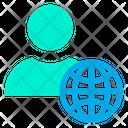User Globe Internet Icon