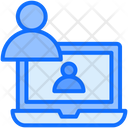 User Online Laptop Icon