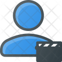 User Movie Action Icon