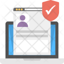 User account privacy Icon