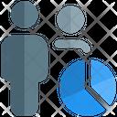 User Analysis Employee Analysis Graph Icon