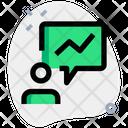 User Analytics User Statistics Bar Graph Icon