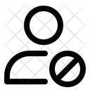 User Blocked Internet Error Blocked Website Icon