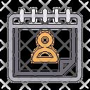 User Calendar Icon