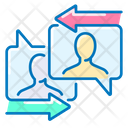 User Chat Communication Arrows Icon