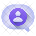 Person Chat User Chat Message Bubble Icon