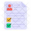 User List User Checklist Todo List Icon