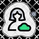 User Cloud Data Cloud Profile Cloud Account Icon