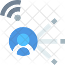 Communicationv User Communication User Connection Icon