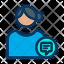 User Communication Profile Communication Female Profile Icon