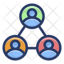 User Communication Network Social Network User Contact Icon