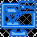 Man Computer Online Icon