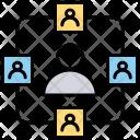 Network Internet Socializing Icon