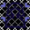 User Crop Image Icon
